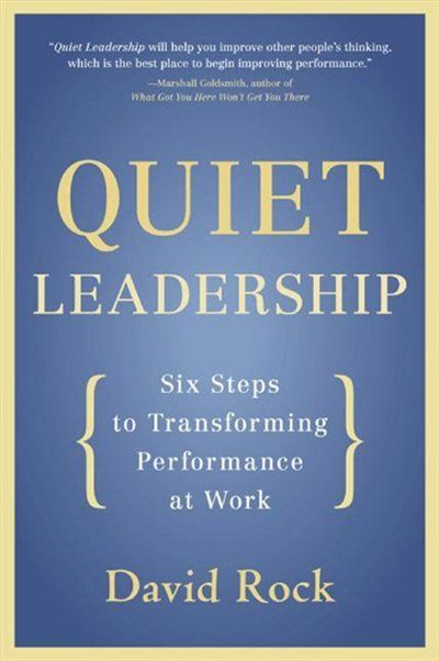 Supported by the latest groundbreaking research, Quiet Leadership provides a brain-based approach that will help busy leaders, executives, and managers improve their own and their colleagues'' performance. Rock offers a practical, six-step guide to making permanent workplace performance change by unleashing higher productivity, new levels of morale, and greater job satisfaction.