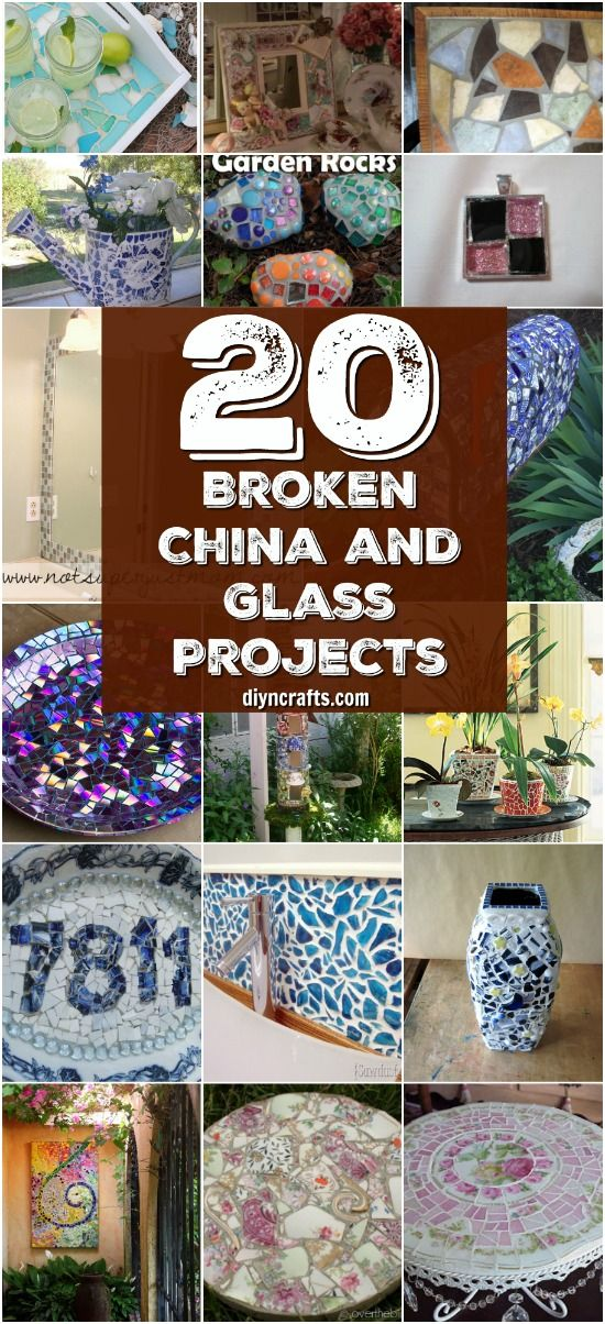 20 Brilliant Repurposing Ideas and Projects For Broken China And Other Glass {Curated and Created by DIYnCrafts Team} via @vanessacrafting