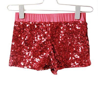 29,90EUR Shorts Glitzershorts Glittershort Pailletten rot pink blau