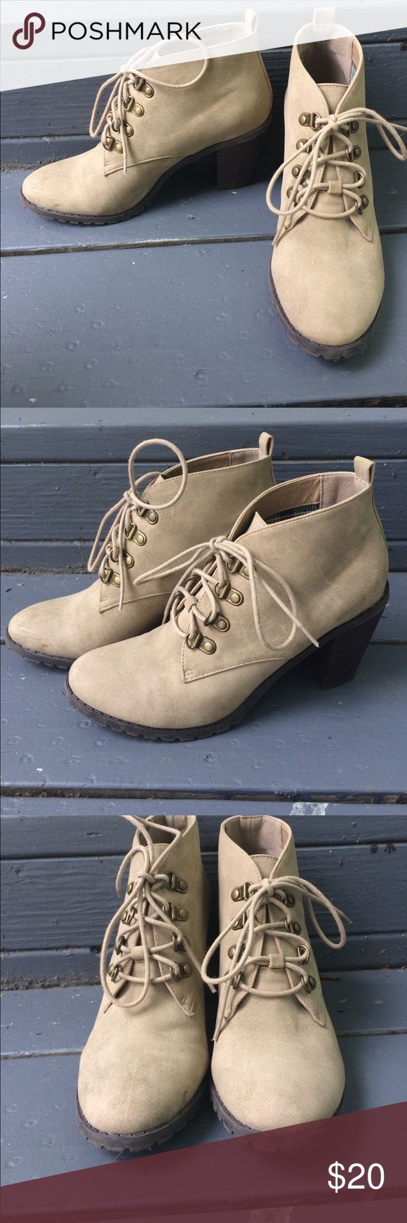 Suede heeled boots Suede lace up heeled boots. Restricted Shoes Ankle Boots & Booties