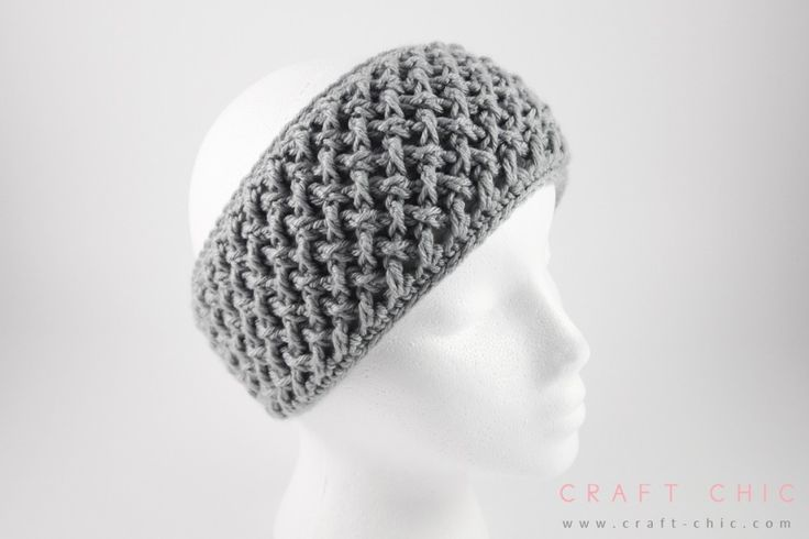 Free Crochet Pattern: Criss Cross Head Wrap {Faux Button Closure} | Craft Chic