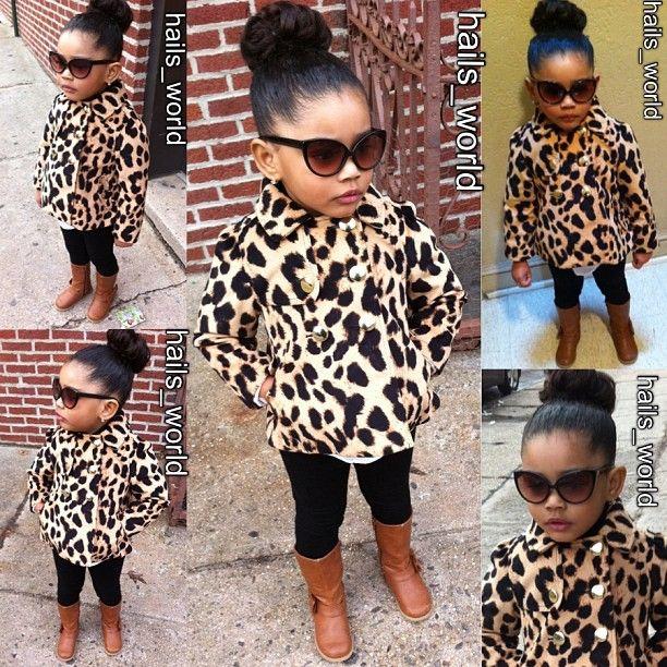 Every little girl needs a fur cheetah coat