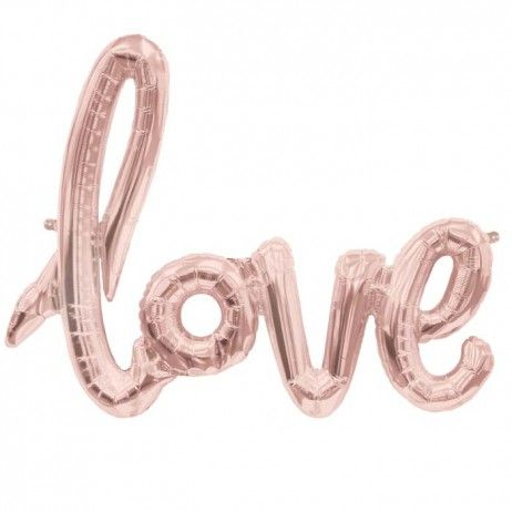 "Ballon en script ""love"" rose gold - 102 cm"