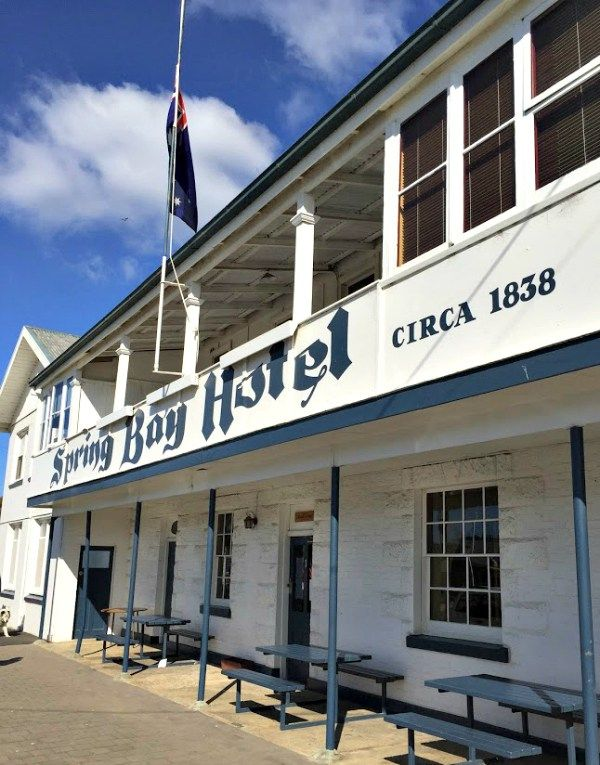 Triabunna: Spring Bay Hotel ~ article and photo for think-tasmania.com ~ #Tasmania #SpringBay #EastCoastTas #Hotel #Heritage #History
