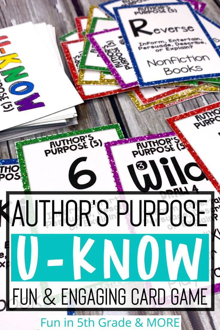 Author S Purpose Game 5 Types For Literacy Centers U Know Authors Purpose Authors Purpose Activities Elementary Reading Centers [ 1104 x 736 Pixel ]