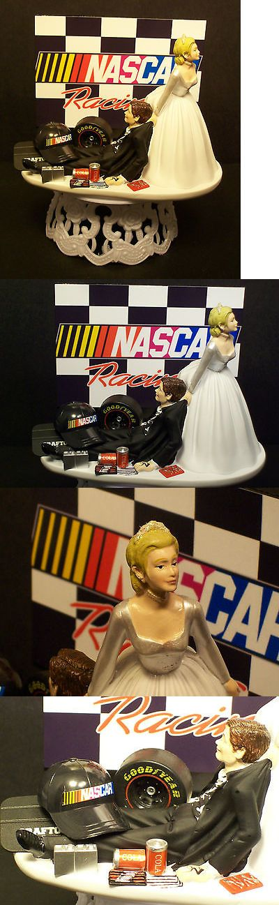 Wedding Cakes Toppers: Nascar Racing Mechanic Car Tire Bride And Groom Wedding Cake Topper Sports Funny -> BUY IT NOW ONLY: $73.99 on eBay!