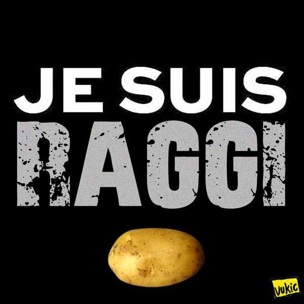 #JeSuisPommeDeTerre… #Raggi #M5S #Roma #JeSuisCharlie