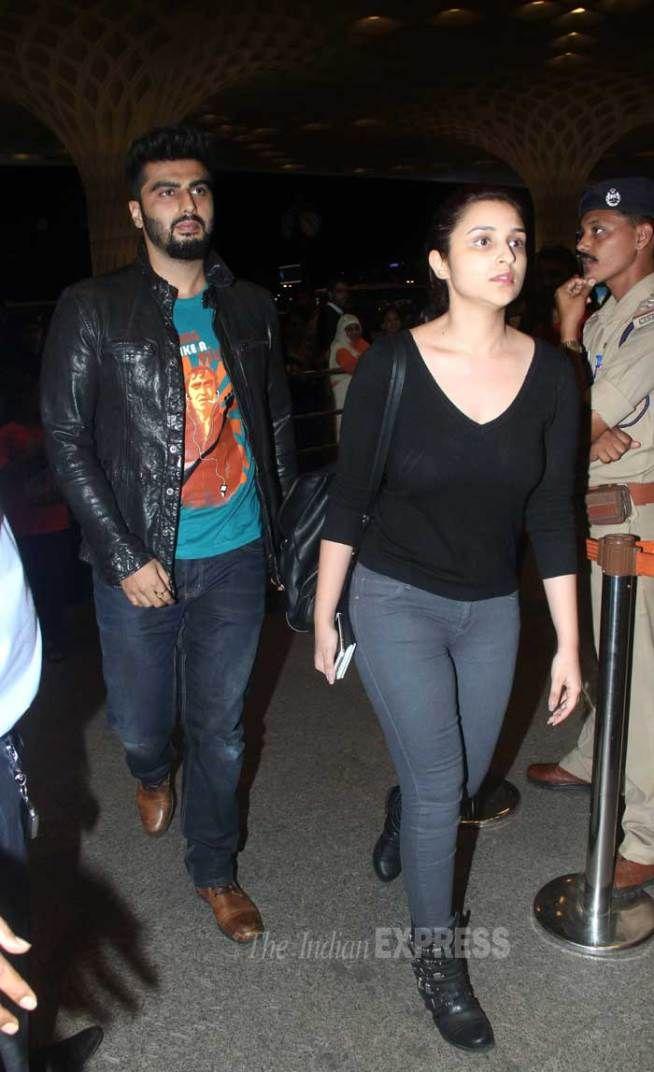 Arjun Kapoor and Parineeti Chopra at the Mumbai airport enroute to #IIFA Awards in Malaysia. #Bollywood #Fashion #Style #Beauty