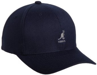 Kangol Men's Flexfit Baseball Cap,Dark Blue,Large/X-Large Fitted-back  baseball cap featuring tonal grommets and contrast logo embroidery at front  ...