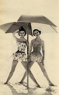 Photos of vintage swimsuits