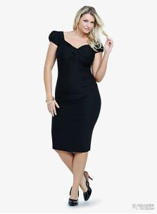 Plus size  party dress, sweetheart neckline, modest