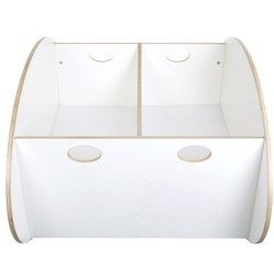 So Ro Contemporary Twin Cradle in White. The design of this cradle is intended to generate a linear motion which soothes and comforts even th. The soothing effect generated by its linear motion simulates the motion while inside the mother's wo. The twin cradle comes with a dividing wall to seperate the children if needed. American walnut real wood veneer on plywood Baltic birch. Mattress covers are 100% cotton.