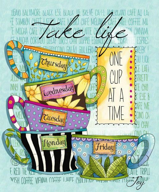 Take life one cup at a time. #coffee