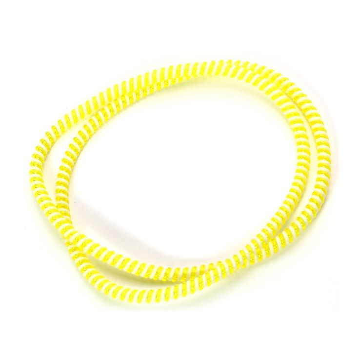 Spiral Cord Protector - 2-Tone White / Yellow