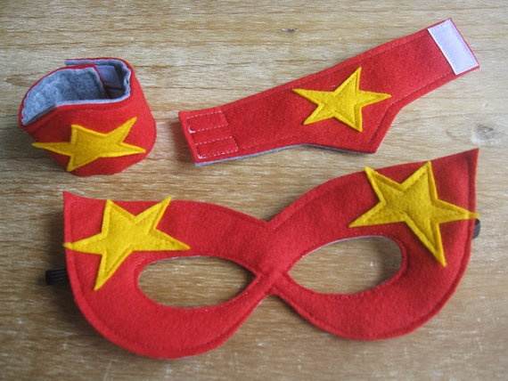 super hero mask and cuff set! so cool!