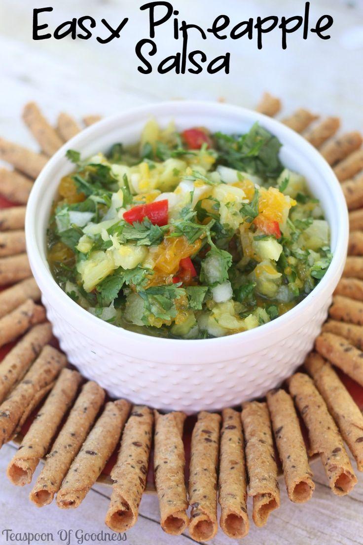 Easy Pineapple Salsa - Teaspoon Of Goodness