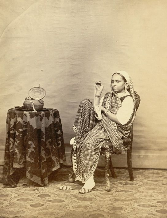Indian woman seated, 1860s