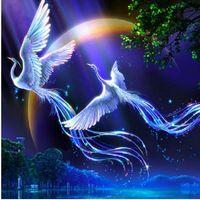 Кристаллы вышивка лоскутное прекрасное украшение стены лобби украшения животные птицы любовника феникс алмаз вышивки крестом