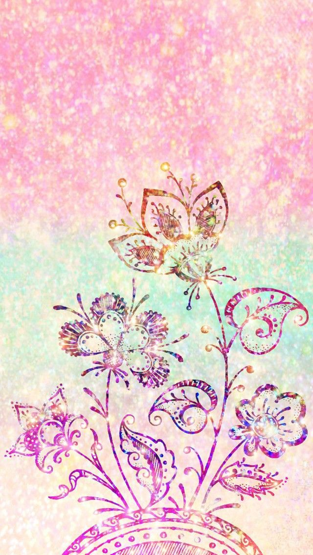 Glittery Spring Blooms Made By Me Pink Spring Flowers Art Colorful Glitter Backgrounds Wallpaper Flower Iphone Wallpaper Glitter Wallpaper Fractal Art Glitter free iphone wallpaper spring