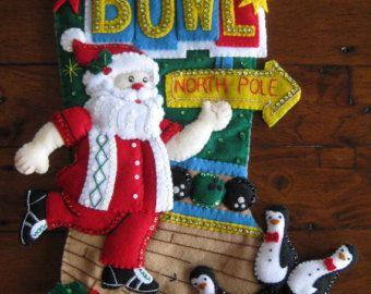 Bucilla Bowling Santa - terminado