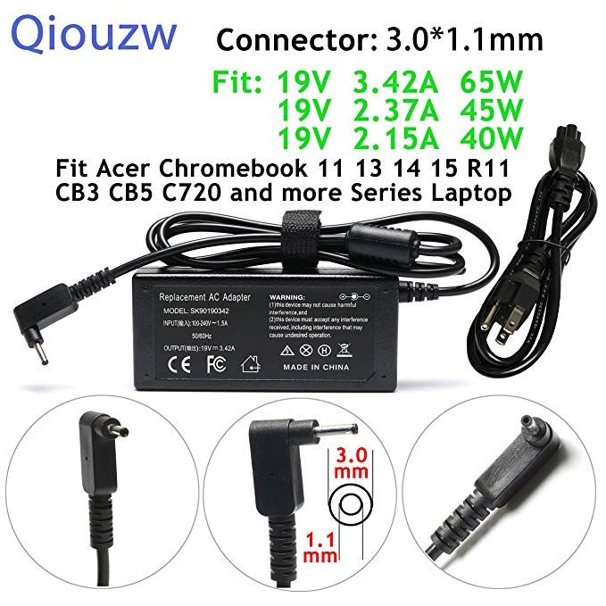 65w 45w 40w Adapter Charger Power Cord For Acer Chromebook 15 14 13 11 C720 C720p C730 C730e C731 C731t C735 Cb3 Cb5 Cb3 111 Cb3 13 Chromebook Acer Aspire Acer
