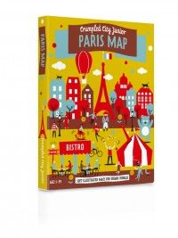 Crumpled City Paryż Junior (miękki plan miasta) - na wycieczkę z młodocianymi, świetna zabawa!