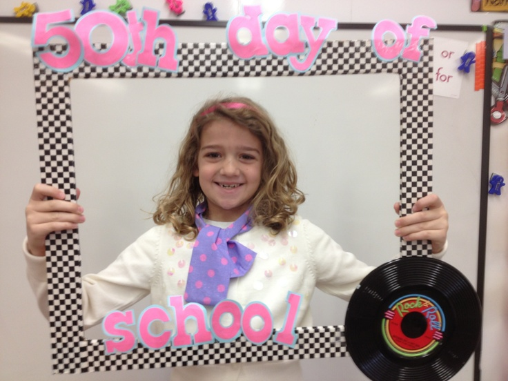 50th day of school picture frame!