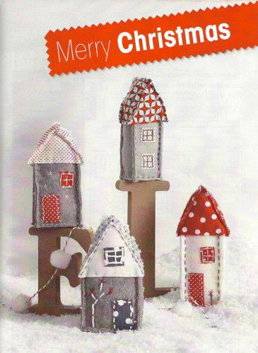 Diy Noel : Maisons en tissus