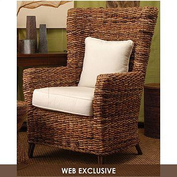 Tamayo High Back Wicker Arm Chair