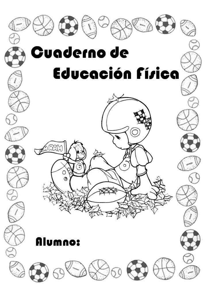 Carátulas de Educación Física para cuadernos de primaria y ...