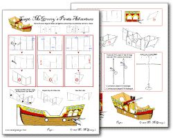 HOW TO BUILD A CARDBOARD PIRATE SHIP (downloadable plans)