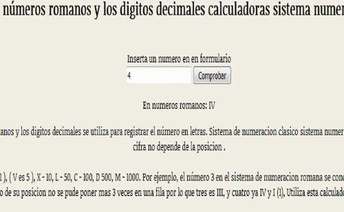 Convertidor entre los numeros romanos y los digitos a a letras decimales calculadoras sistema numerico Cifras I V X L C D M .