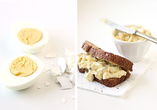 Mayo-Free Egg Salad  - Kitchen Originals   mint