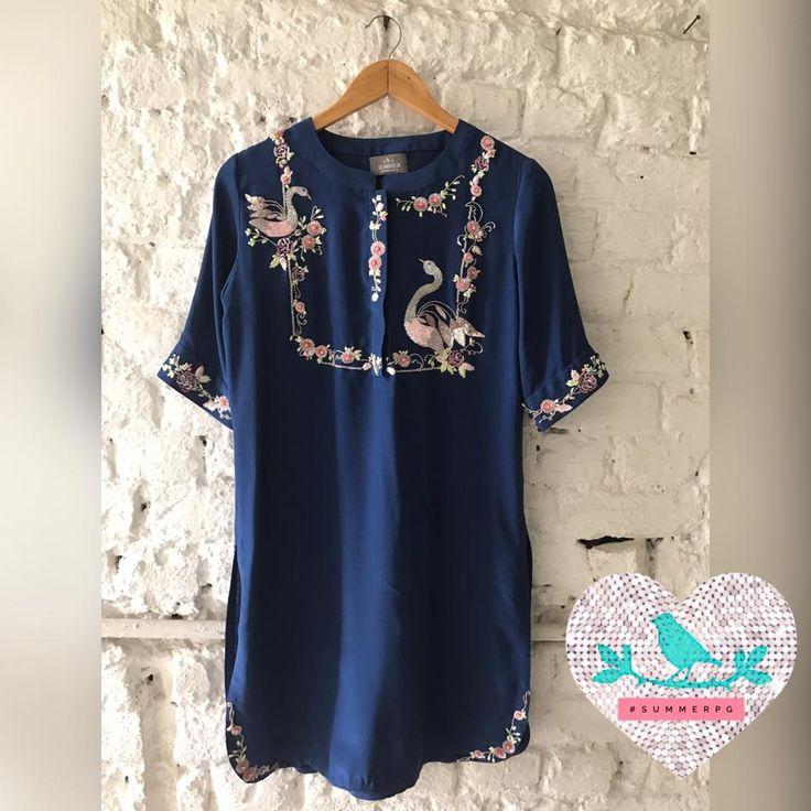 Dark Blue Swan Tunic. Summer by Priyanka Gupta.  04 February 2017