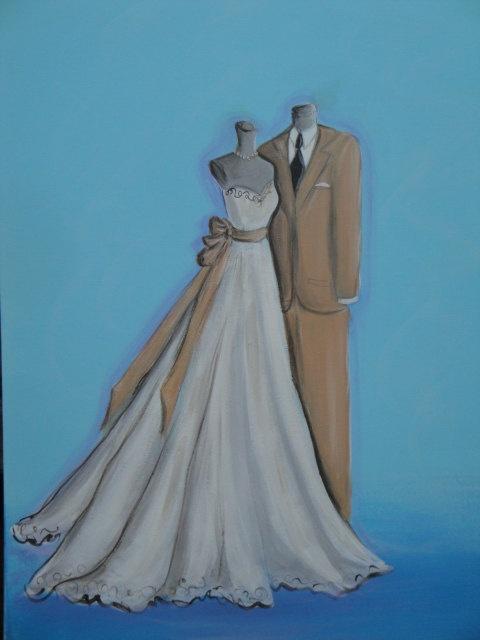 Custom art to match the bride and groom. Contact for details  www.tux2u.com