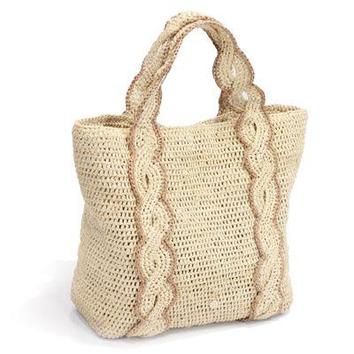HELEN KAMINSKI RAFFIA crochet BAG