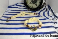Handmade Navy Bracelets website: papionuldelemn.com