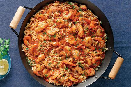 Πικάντικες γαρίδες με μανέστρα στην κατσαρόλα - Συνταγές | γαστρονόμος