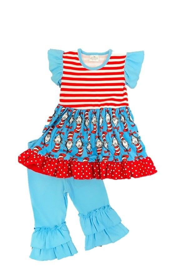 8223dbaee20f Cat in the Hat Dr. Seuss Boutique Outfit 2 3 4 5 6 7 8 sip #Unbranded  #TrouserOutfit #SchoolValentinesDayEasterPartyDressyEverydayHoliday