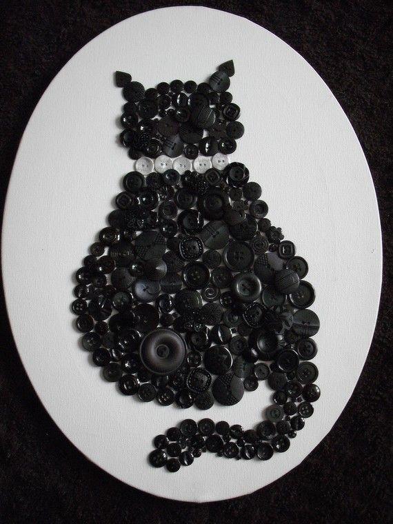 Button Black Cat by Bu77onArt on Etsy, £35.00