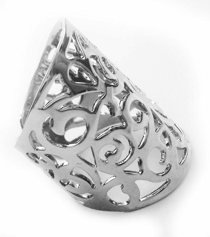 Gümüş Kafes Yüzük