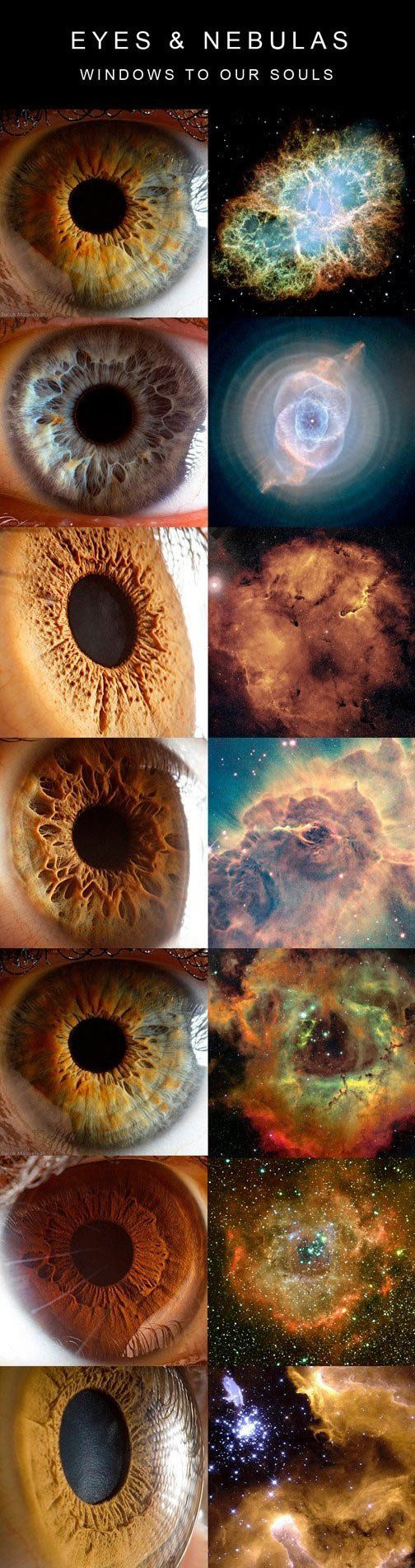 Eyes and nebulas: how strange the resemblance.