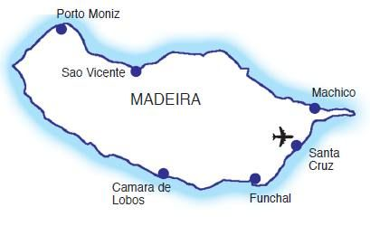 Map - map - Find cheap hotels and holiday cottages, nature and rural houses, discounts and the right opportunities to visit the Madeira archipelago.