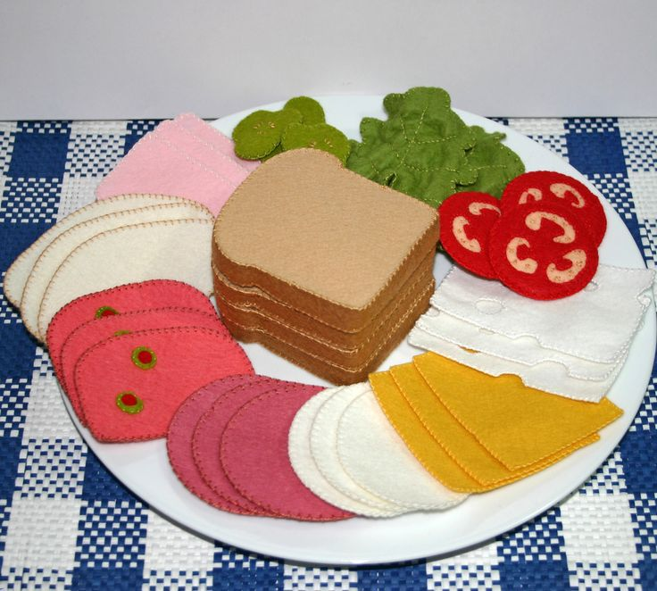 Wool Felt Play Food  Deli Meat and Cheese for by EvaLauryn on Etsy, $59.00