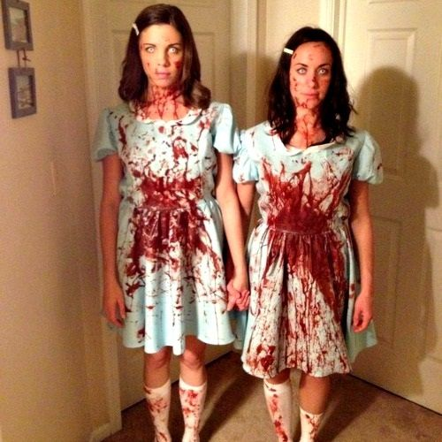 The Shining twins are a perfect costume for a gruesome twosome!