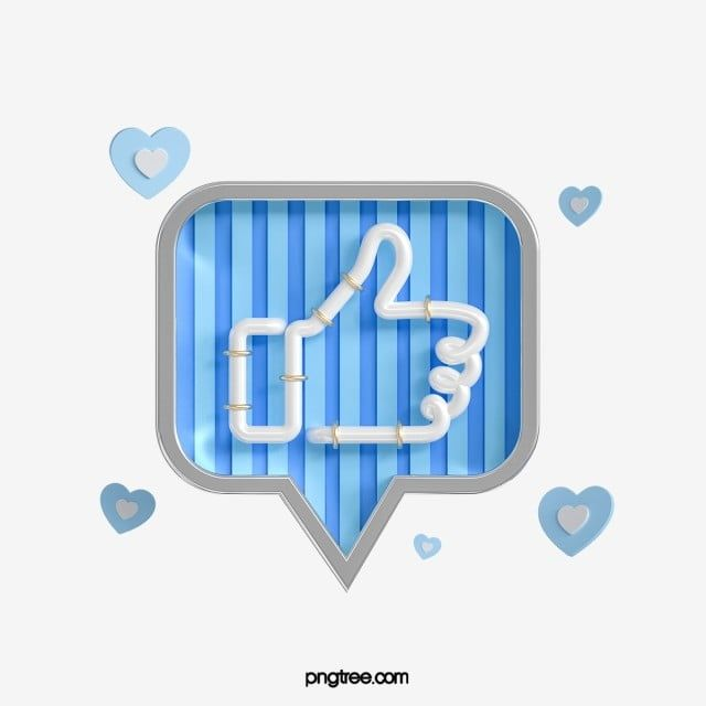 3d Blue Cute Like Icon Thumbs Up Clipart Give The Thumbs Up Network Png Transparent Clipart Image And Psd File For Free Download Like Icon Love Blue Blue Abstract