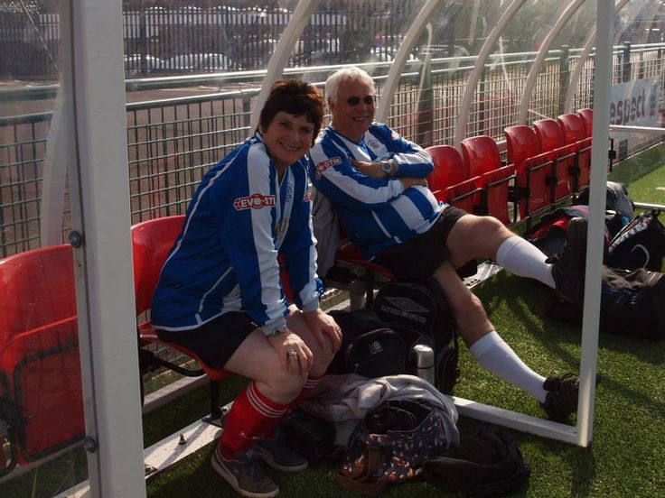 Jane and Bill at tournament (Gloucestershire FA)