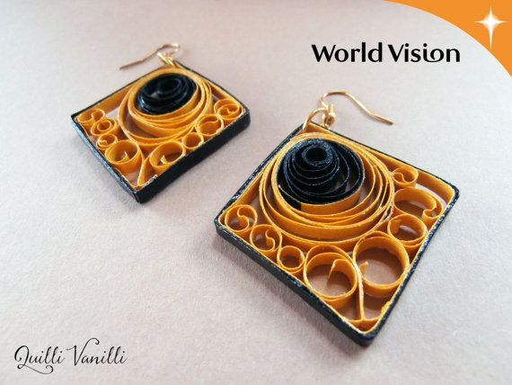 Paper Quilled Earrings Charity Proceeds To by quillivanilli