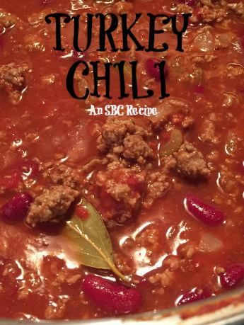 Save Print HEARTY TURKEY CHILI  Ingredients 2 pounds lean ground turkey 1 large onion, chopped 2 celery ribs, chopped 4 garlic cloves, minced 2 cans (16 ounces each) kidney beans, rinsed and …
