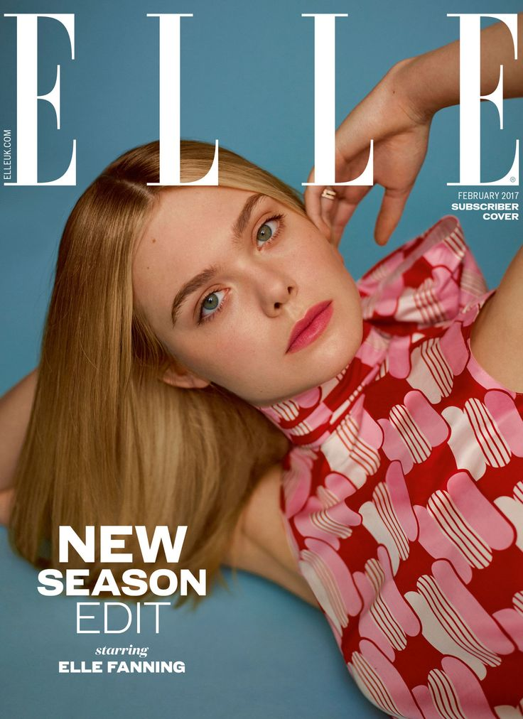 Elle Fanning by Thomas Whiteside for Elle UK February 2017 Cover